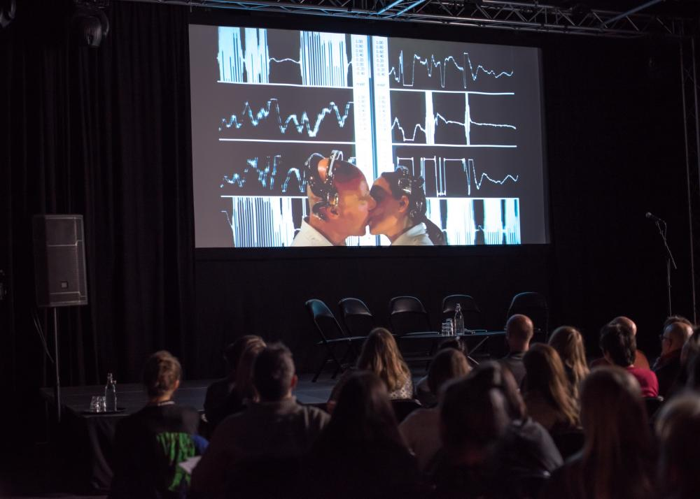 Media Art Worlds Conference - EEG Kiss screening
