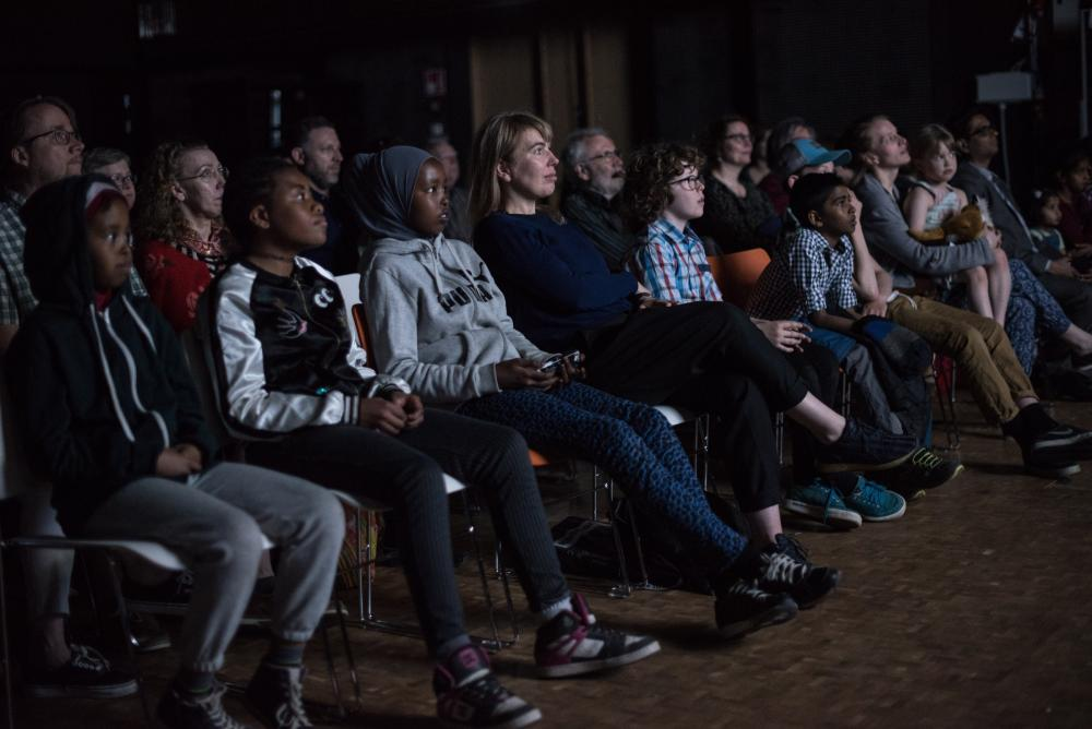 Audiences viewing the film