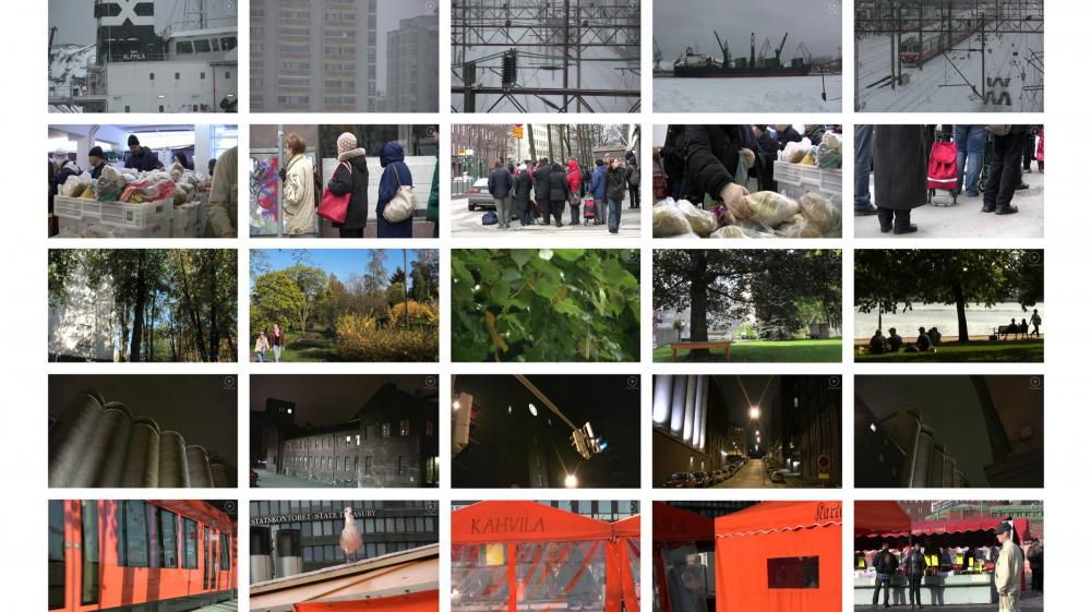 Kallio Archive grid of video thumbnails