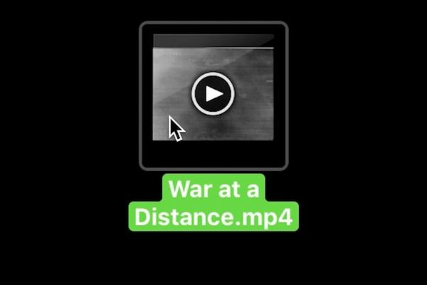 video icon with text war at a distance